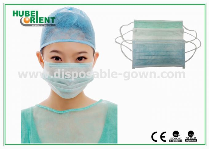 Blue Medical 3 Ply Face Mask / Disposable Earloop Face Mask For Hygienic Application