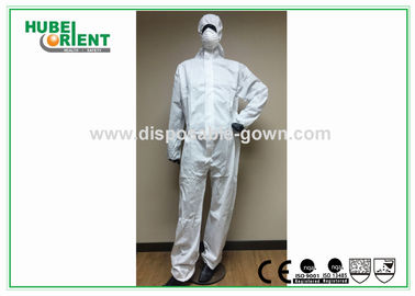 China Splash Proof Protective Disposable Coveralls Type 5 , Chemical Coverall Suit supplier