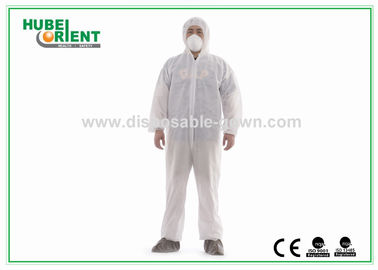 China White Disposable Protective Coveralls MS PE Polypropylene Suit supplier