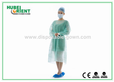 China Medical Nonwoven Soft Disposable Isolation Gowns with Knitted Cuff supplier