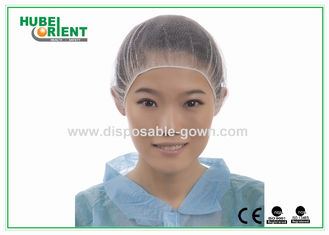 China Nylon Mesh Disposable Head Cap Round Snood medical hair net with Elastic supplier