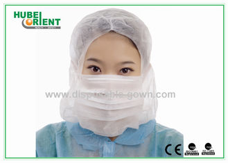 Protective Soft Surgical Disposable Head Cap , Disposable Hair Nets