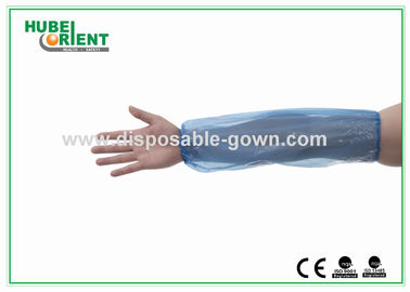 China Yellow / Blue PE Disposable Arm Sleeves 16 Inch for Food Industry supplier
