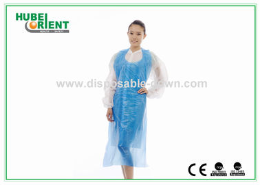 China Watertightness Polyethene White Disposable Aprons Plastic Coated Aprons supplier