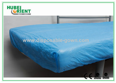 China Breathable CPE  Disposable Bed Protectors Hospital Bedding Sheets supplier