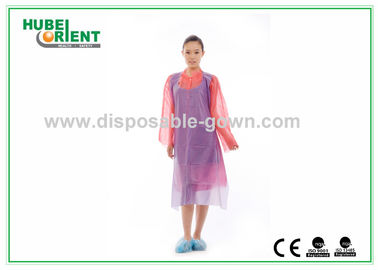 Waterproof Plastic Disposable Aprons , Disposable Kitchen Aprons