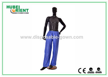 China Anti Dust Breathable Long Disposable Pants PP Nonwoven for Hotels supplier