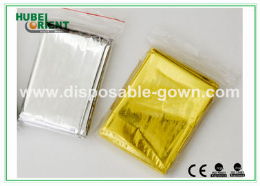 China Customized Silver Emergency Thermal Blanket / Waterproof Emergency Foil Blanket supplier