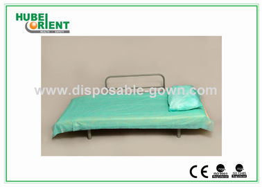 China Light Weight Anti Static Blue Disposable Bed Sheets 30gsm to 40gsm , 60x180cm supplier