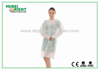 China Disposable PP Nonwoven medical protective clothing for Hospital Nursing with Snaps supplier