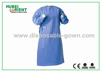 China Against Liquid permeation Disposable Surgical Gowns , Dark Blue supplier