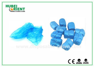 China Laboratory Blue 3.2g disposable Shoe covers , Plastic disposable foot covers Indoor supplier