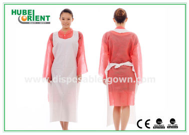 CE Transparent Plastic PE Disposable Aprons for Food Service , Medical Grade