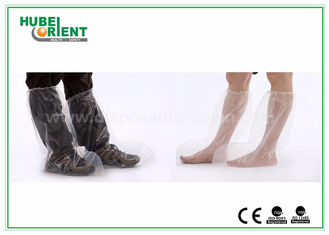 Plastic Disposable Shoe Cover Outdoor / Waterproof Rain Boot Cover For Hospital