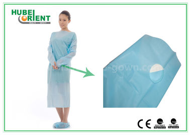 20g/m2 Knitted Wrist Nonwoven Disposable Protective Gown For Hospital
