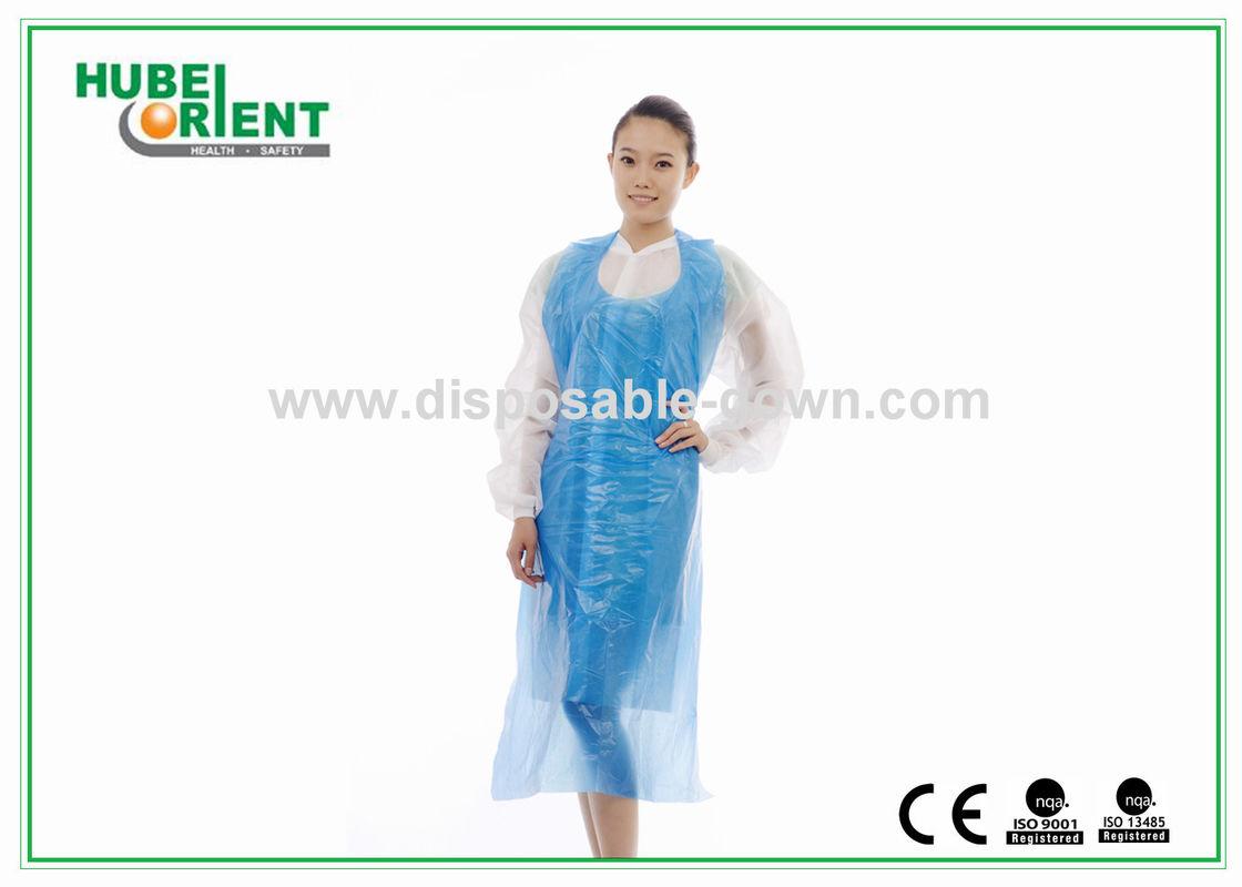 White apron health - Watertightness Polyethene White Disposable Aprons Plastic Coated Aprons
