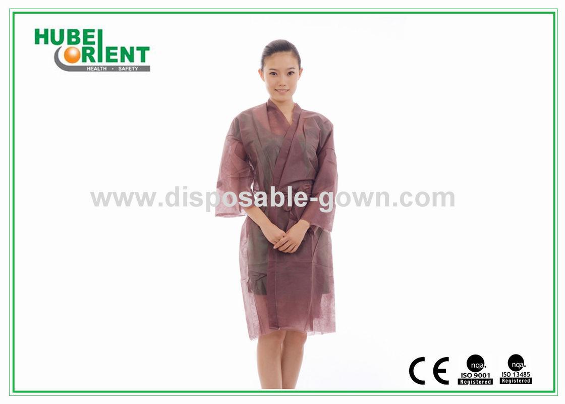 4573ffd291 Colored Soft Nonwoven Disposable Kimono Robe Sauna Robe for Spa