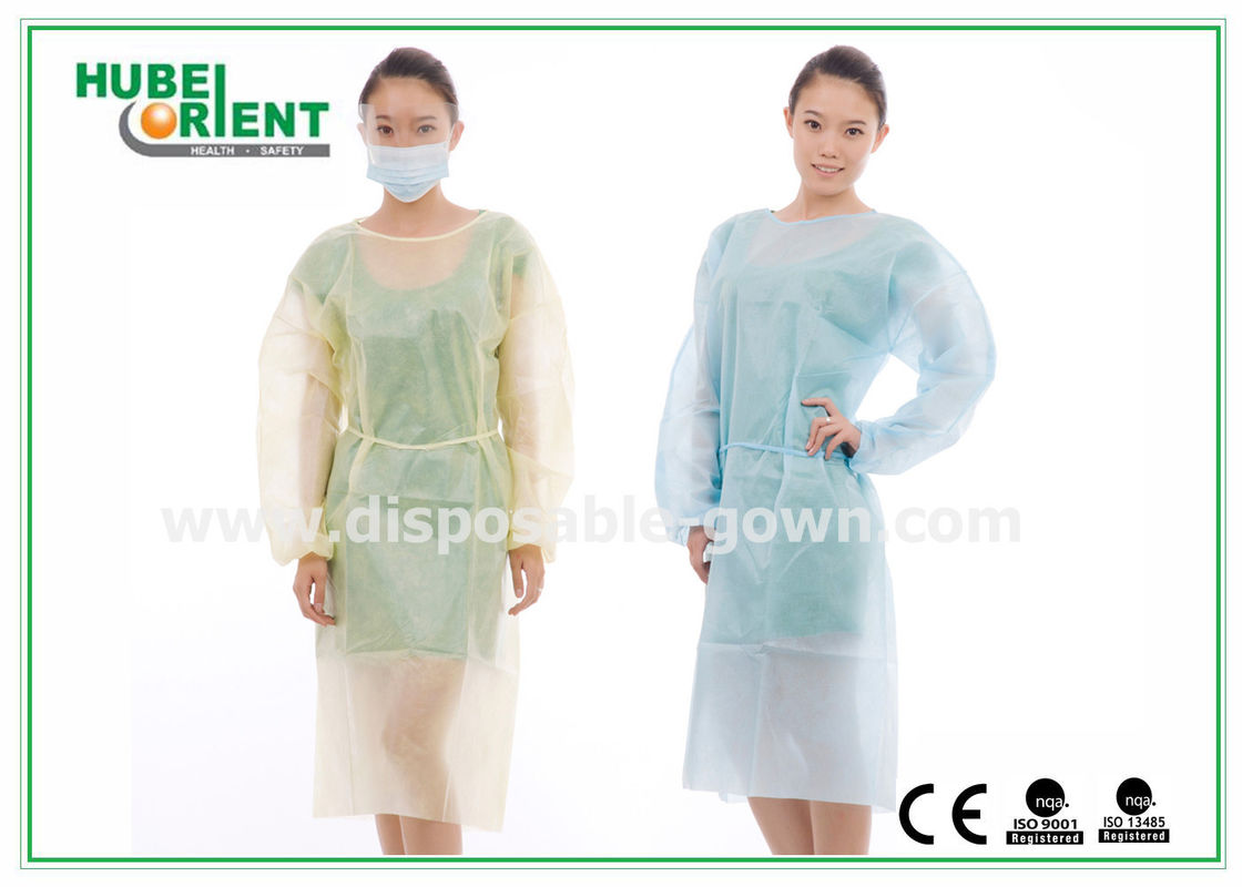 Hospital Disposable Isolation Gowns , Elastic Cuff disposable ...