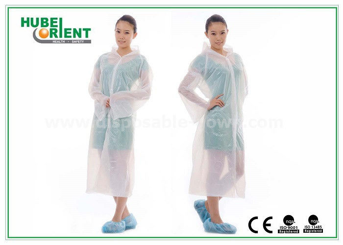 Waterproof Protective Disposable Medical Gowns / PE Hospital Gowns ...