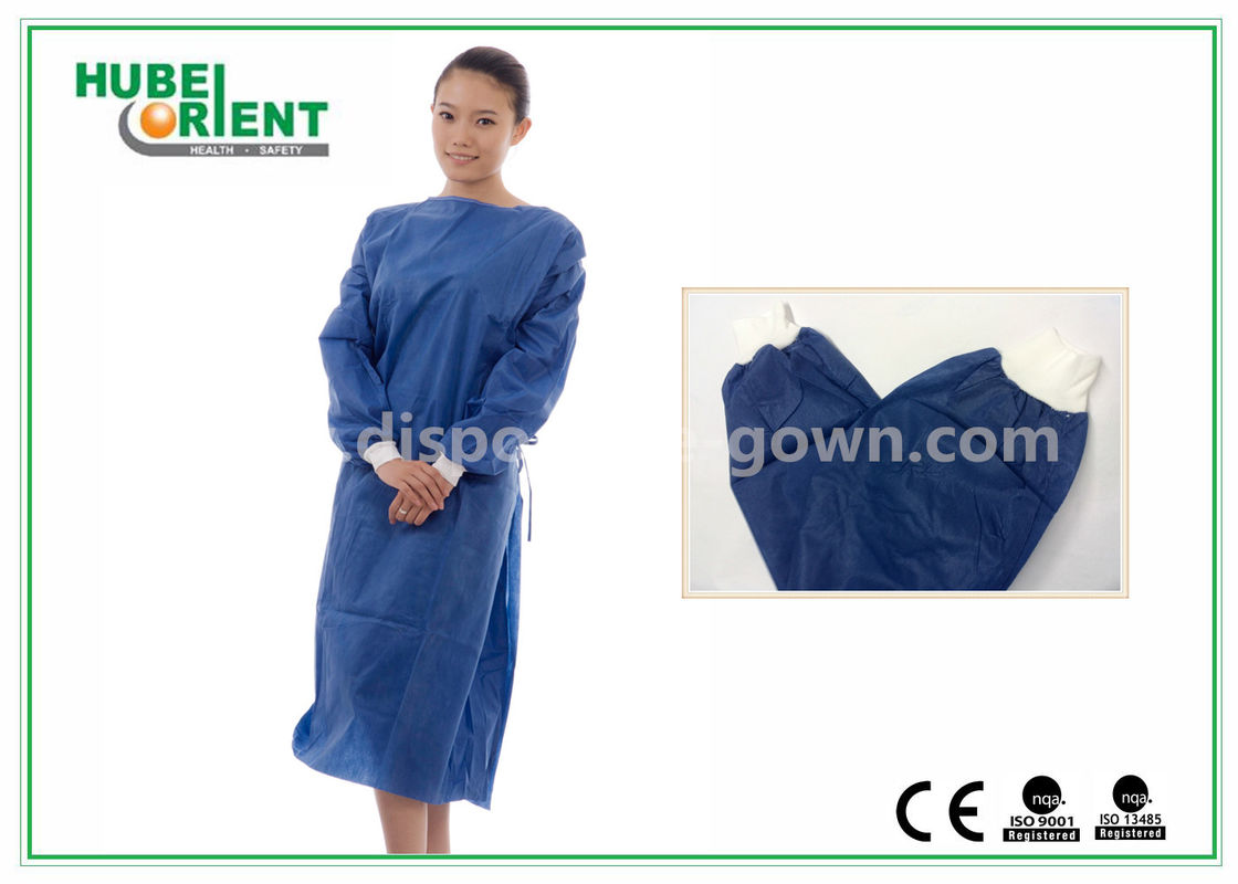 Disposable Surgical Isolation Gown / Custom Hospital Gowns With PP ...