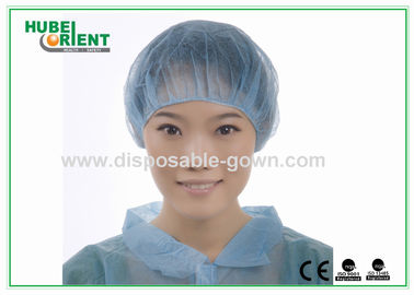 China Soft Non Woven Bouffant Cap Breathable Disposable Head Cap with Elastic distributor