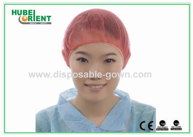 China PP Nonwoven Colorful Disposable Scrub Caps / Mens Surgical Caps distributor