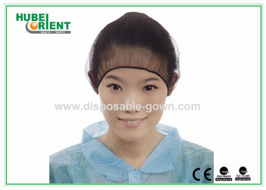 China Black Nylon Hairnet Disposable Head Cap Comfortable Breathable Snood distributor