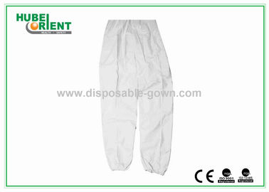 China Safety Waterproof White Mens Disposable Pants For Travelling distributor