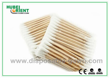 "China Single / Double Head Hospital Disposable Products Surgical Wooden Cotton Swabs 3"" distributor"