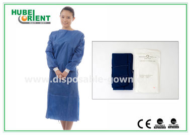 China XL SMS Nonwoven Disposable Surgical Gowns with Knitted Wrists , CE ISO distributor