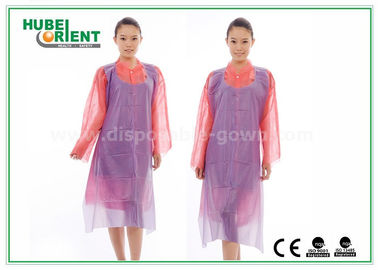 China White Waterproof and Dustproof Disposable Aprons PVC Material With Punched Neck Opening distributor
