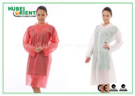 PP Disposable Lab Coats , custom disposable lab gowns Protective with Snap