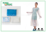Waterproof Disposable Lab Coats , Transparent Plastic PE disposable visitor coats
