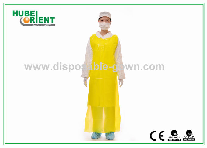 Polythene Disposable Aprons , Waterproof Plastic Colored Aprons