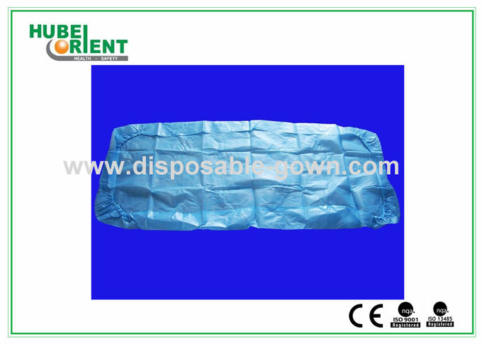 Disposable CPE Bedcover Sanitary Bed Sheets with Elastic Rubber , No Stimulus