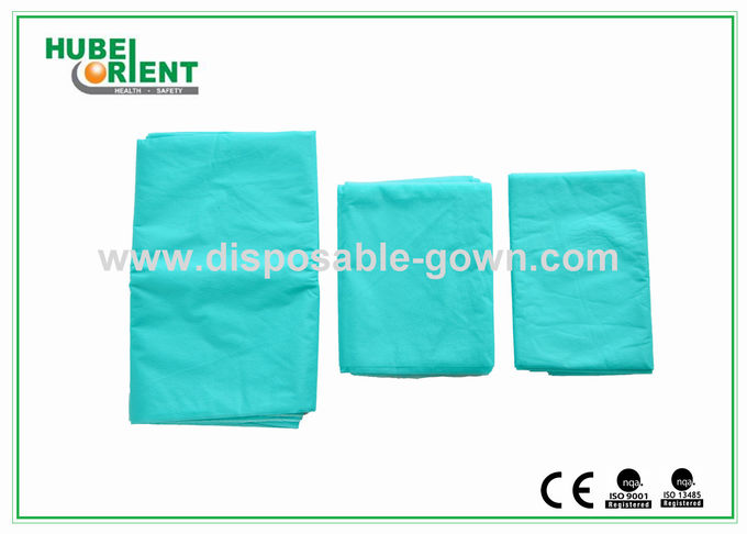 Light Weight Anti Static Blue Disposable Bed Sheets 30gsm to 40gsm , 60x180cm